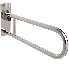 Croydex Stainless Steel Fold Away Hand Rail - Chrome