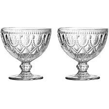 Premier Housewares Fleur Clear Sundae Dishes - Set of 2