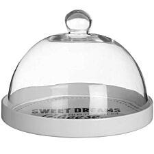 Premier Housewares Pun & Games Cheese Board with Glass Dome