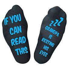 "Flo Socks ""Grandpa Is Resting His Eyes""- Black"