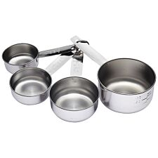KitchenCraft Stainless Steel 4-Piece Measuring Cup Set