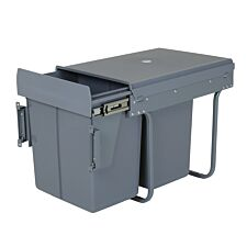 Charles Bentley Pull Out Kitchen Cupboard Bin 40L - Grey