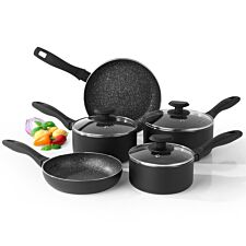 Salter Megastone 5-Piece Pan Set - Black