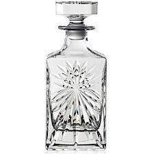 RCR 850ml Crystal Glass Oasis Square Wine Decanter - Clear