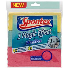 Spontex Magic Effect Microfibre Cloths - 3 Pack