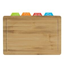 Bamboo Cutting Board with 4 Flexi Mats