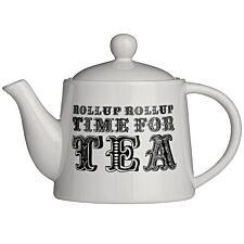 Premier Housewares Carnival Teapot - White