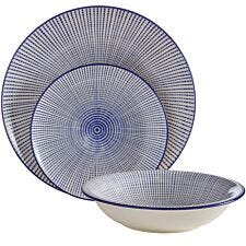 Premier Housewares 12-Piece Maya Dinner Set - Blue