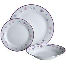 Premier Housewares 12-Piece Delicate Flower Dinner Set
