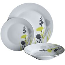 Premier Housewares 12-Piece Grey Meadow Dinner Set