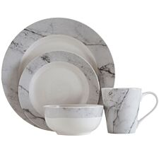 Premier Housewares 12-Piece Grey Marble Dinner Set