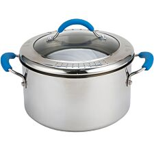 Joe Wicks Quick & Even Stainless Steel Straining Stockpot - 24cm