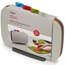 Joseph Joseph DUO 4-Piece Chopping Board Set - Multicoloured