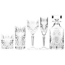 RCR Oasis Luxion Crystal Drinkware Collection with Decanter - 25 Piece