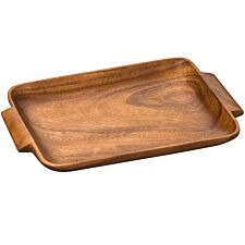 Premier Housewares Kora Wooden Serving Tray with Handles