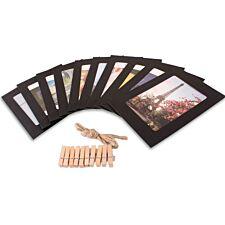 Haven Picture Photo Frame Set - Black