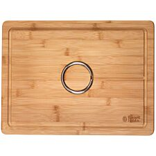 Russell Hobbs Bamboo Carving Board with Reversible Spikes