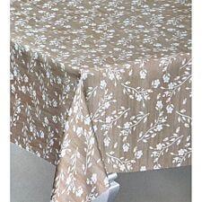 Le Chateau Floral Spring PVC Tablecloth - Beige