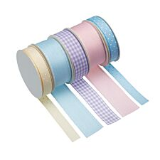 Sweetly Does It Multi-coloured Pastel Ribbons - Pack Of 5
