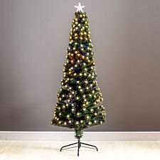 6ft Robert Dyas Grosvenor Fibre Optic Pencil Christmas Tree