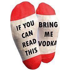 "Flo Slogan Socks ""Bring Me Vodka"" - Red & White"