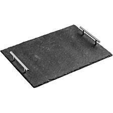 Premier Housewares Grey Slate Tray with Handles