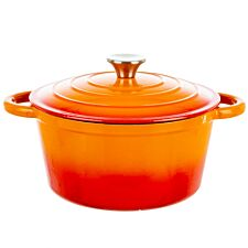 Robert Dyas Cast Iron Casserole Pan - 24cm