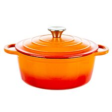 Robert Dyas Cast Iron Casserole Pan - 22cm