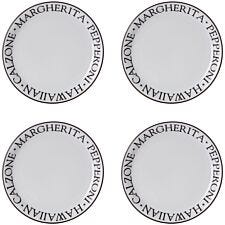 Premier Housewares Noir Pizza Plates - Set of 4