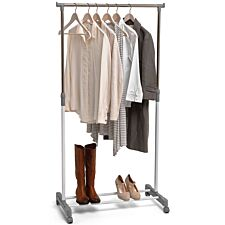 H & L Russel Clothing Rail - White