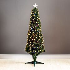 5ft Robert Dyas Grosvenor Fibre Optic Pencil Christmas Tree