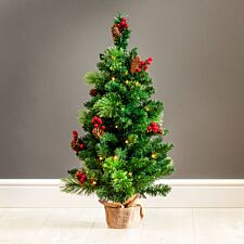3ft Robert Dyas Richmond Pre-Lit Christmas Tree