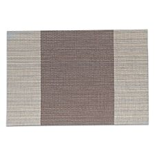 Haven Anti Slip Dining Table Mat - Vertical Bar Coffee