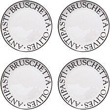 Premier Housewares Noir Antipasti Plates - Set of 4