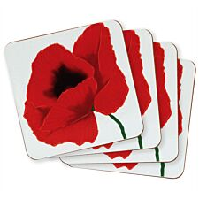 Poppy Coasters - Set Of 4