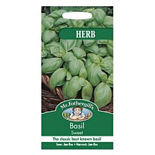 Mr Fothergill's Basil Sweet Genovese Seeds