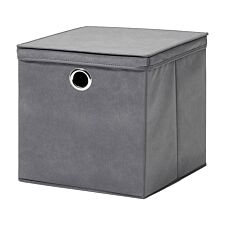 H&L Russel Large Non-Woven Storage Box with Lid - Grey