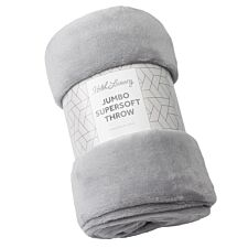 Sensio Home 200 x 220 Luxury Jumbo Throw - Grey