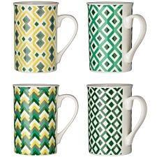 Premier Housewares Austin Porcelain Mugs - Set of 4