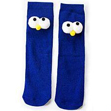 Flo Knee High Socks With Large Big Eyes - Blue