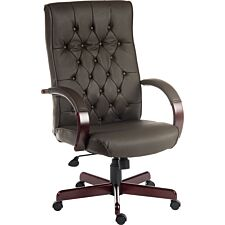 Teknik Warwick Chair with Button-Tufted Backrest