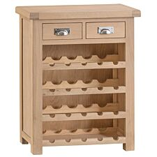 Wisborough Small Ready Assembled Oak Wine Rack
