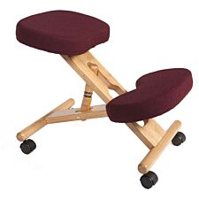 Teknik Wooden Kneeling Chair - Burgundy