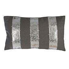 Premier Housewares Kensington Townhouse Wool Cushion - Grey/Silver
