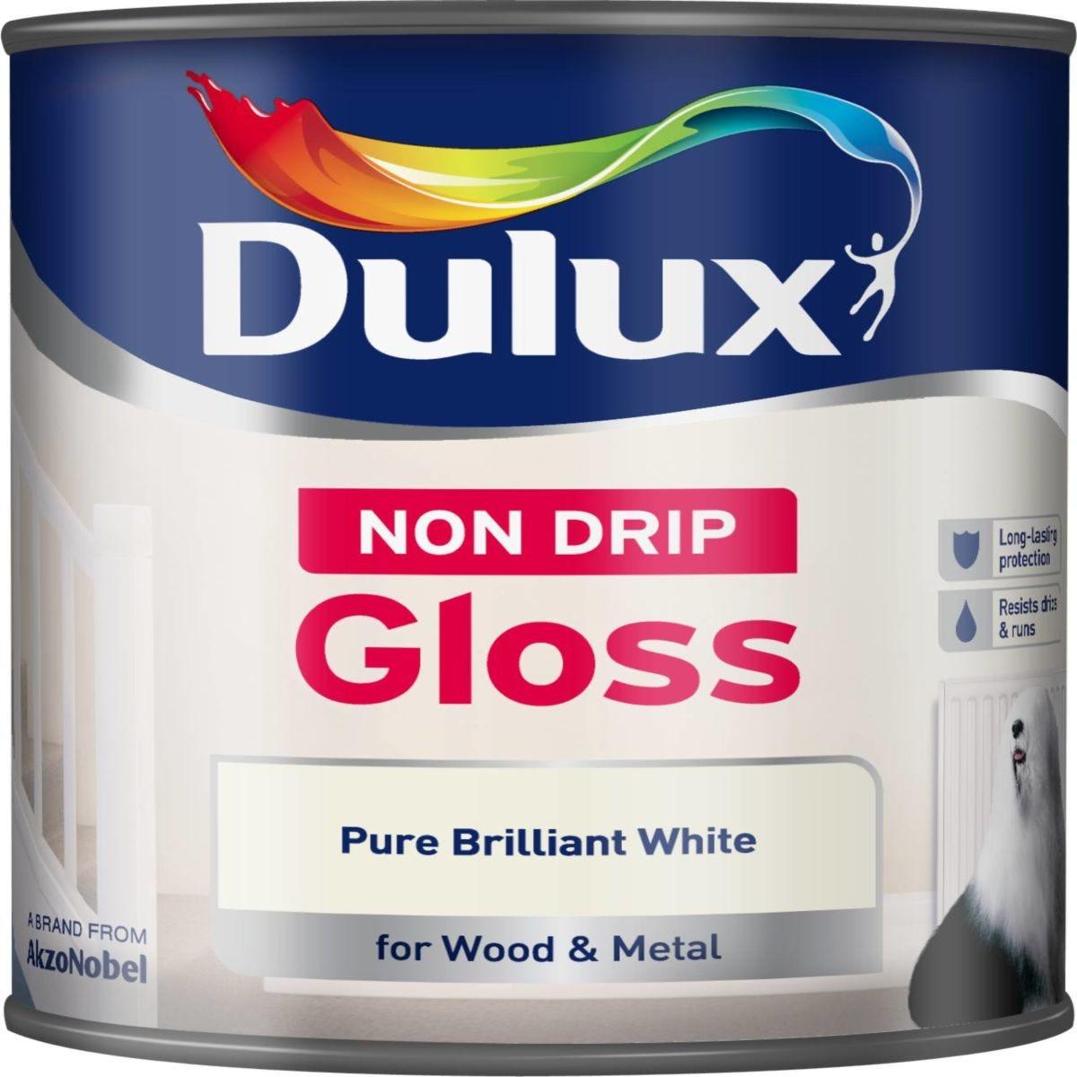 Dulux Non-Drip Gloss Paint – Pure Brilliant White – 750ml