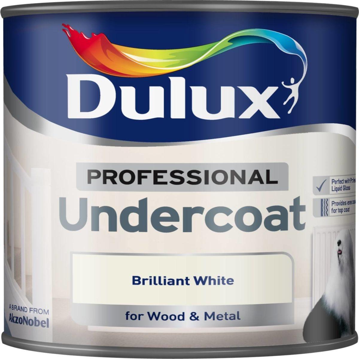 Dulux 0.75L Professional Paint Undercoat - Brilliant White