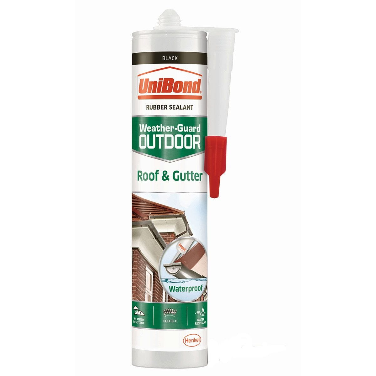 UniBond Roof & Gutter Outdoor Sealant - Black