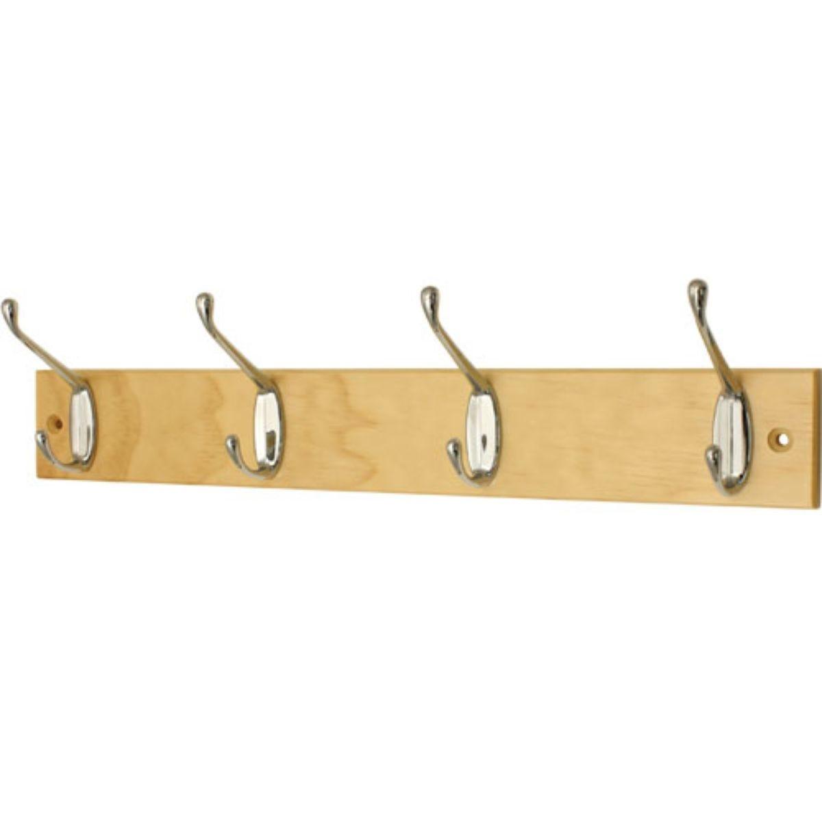 Select Hardware Pine Hook Rail 4 Hat & Coat (1 Pack)