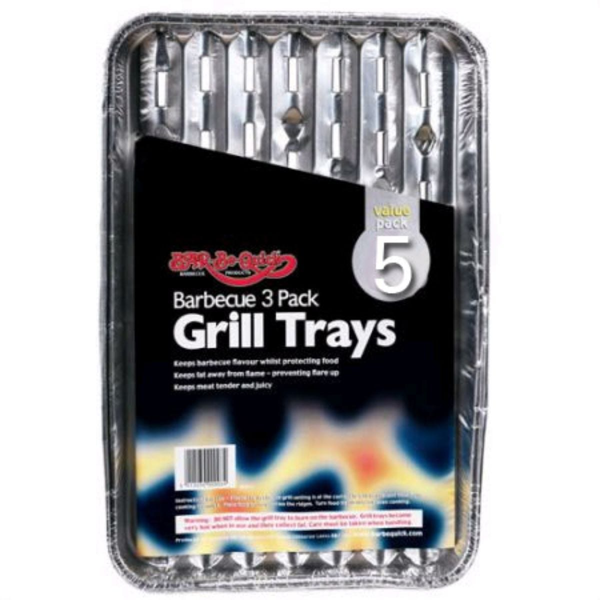 Bar-Be-Quick Grill Trays - Pack of 5