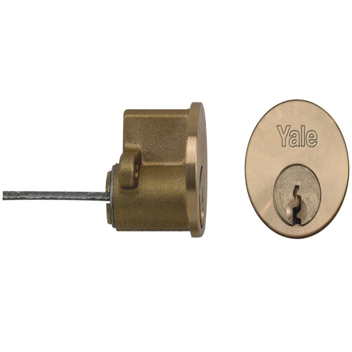 Yale Replacement Cylinder Polished Brass